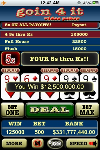 Screenshot Video Poker Double Double Bonus FREE!